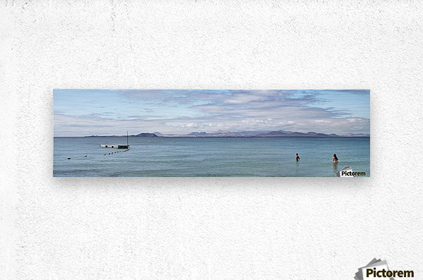 Panorama of Pontoon and Fuerteventura  Metal print