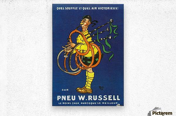 Pneu W.Russell  Metal print
