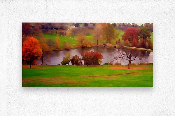 Fall Day at the University of Kansas  Metal print