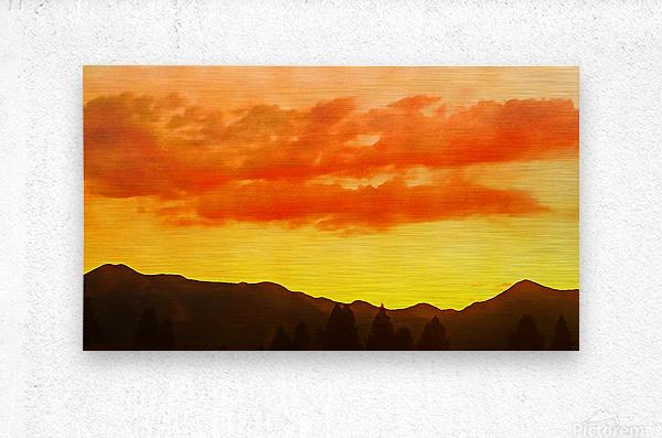 california sky  Metal print