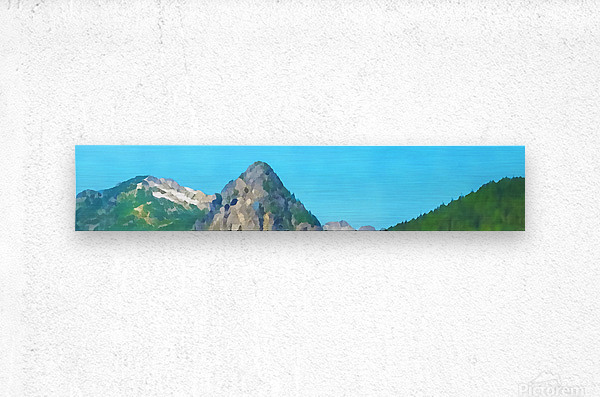 seattle mountains  Metal print