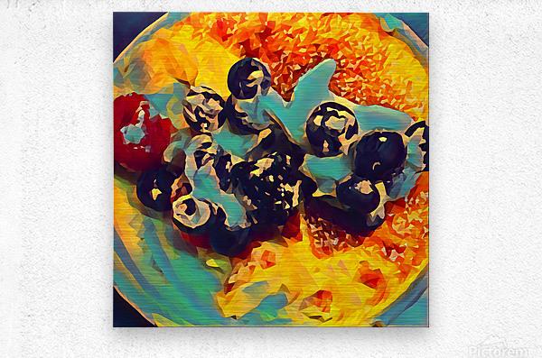 creme brulee food art 2  Metal print