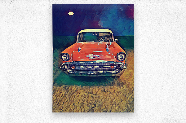 57 chevy car art  Metal print