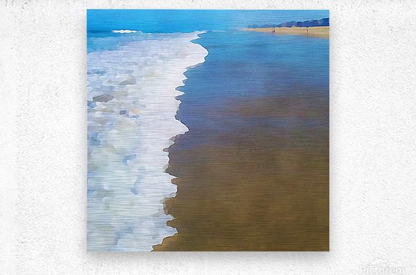 manhattan beach watercolor  Metal print