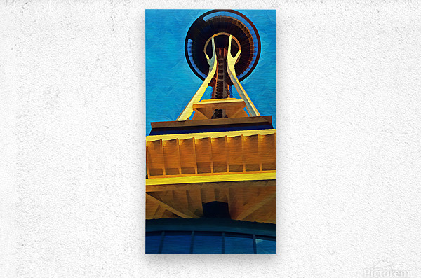 seattle space needle abstract  Metal print