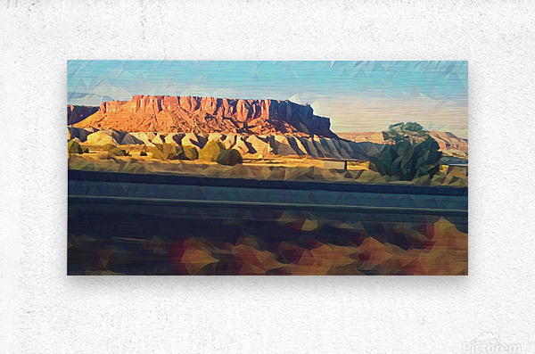 new mexico highway  Metal print