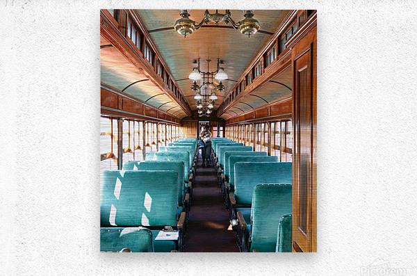 Interior of Antique Railcar.  Metal print