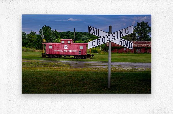 Rail Car in Exmore VA  Metal print