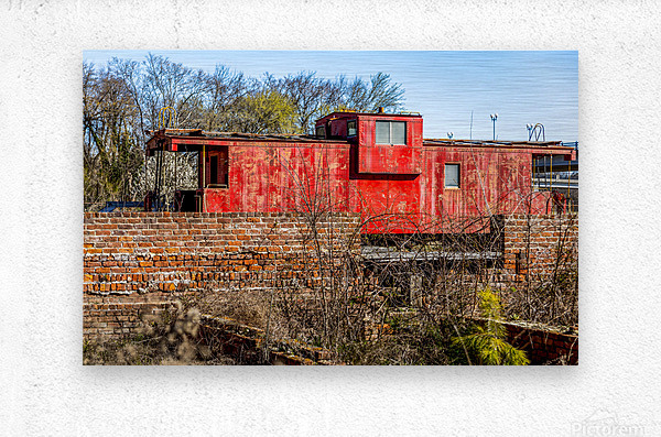 Rail Car in Petersburg VA  Metal print