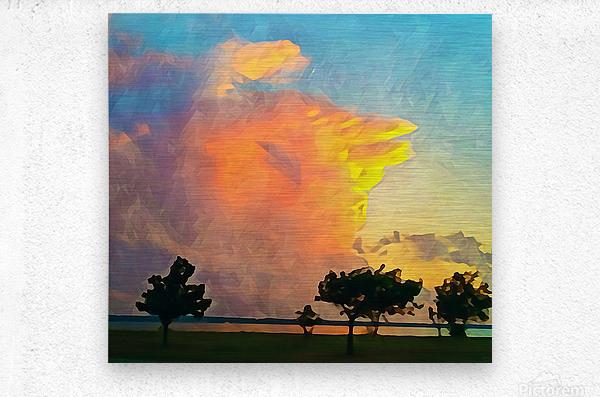 thunder cloud  Metal print