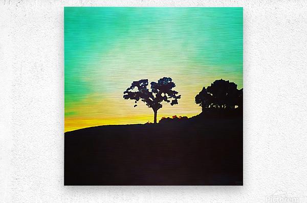 hill tree  Metal print