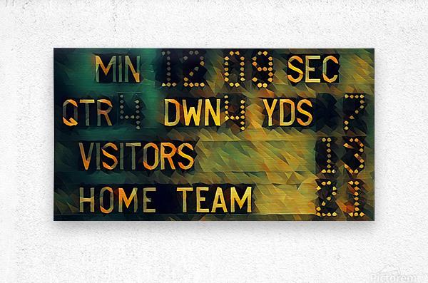 Football Scoreboard Art  Metal print