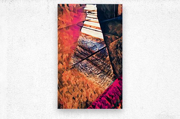 kitchen tiles morning greeting  Metal print
