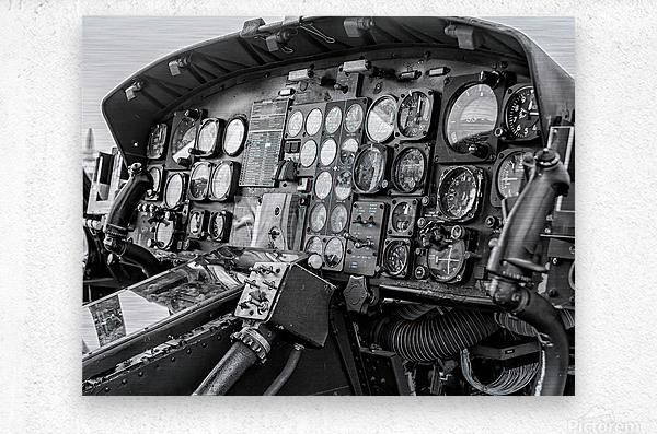 Helicopter Cockpit  Metal print