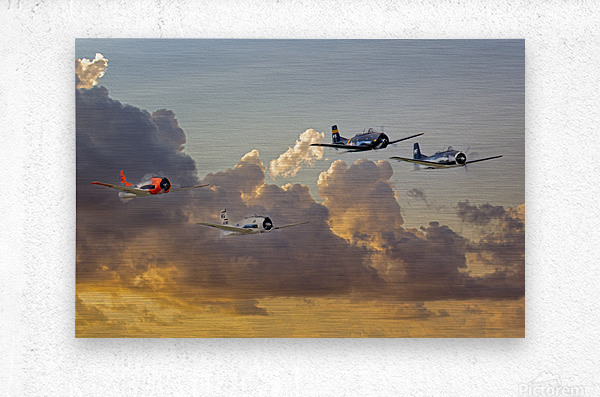 Four T 28 Trainers  Metal print