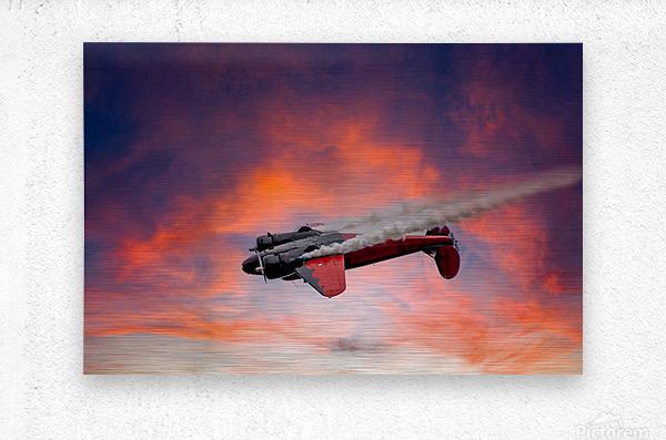 Beech B18 Inverted Flight  Metal print