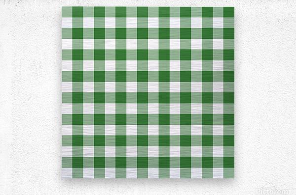 Green Plaid Pattern  Metal print