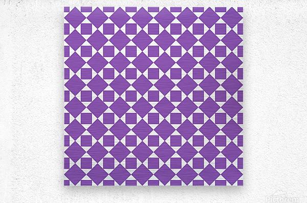Purple Geometric Pattern  Metal print