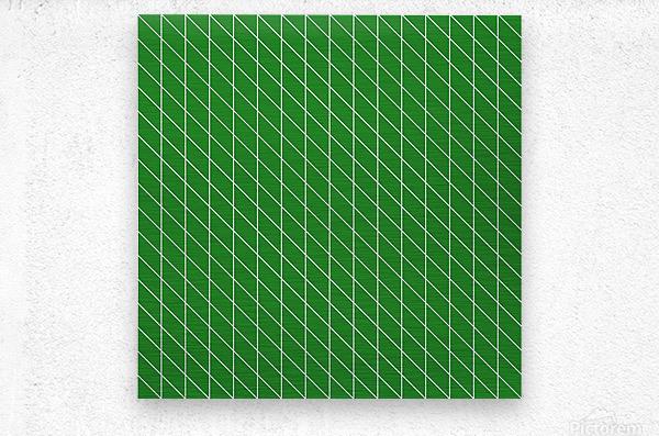 Green Checkers Pattern  Metal print