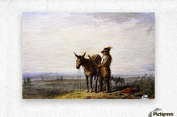 Old Bill Burrows a Free Trapper  Metal print