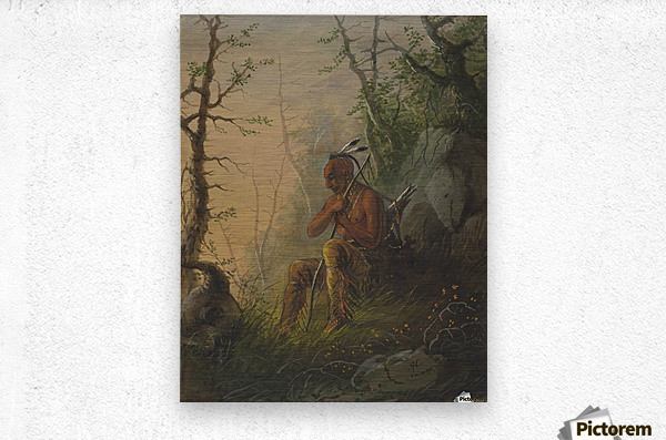 Sioux Indian at a Grave  Metal print