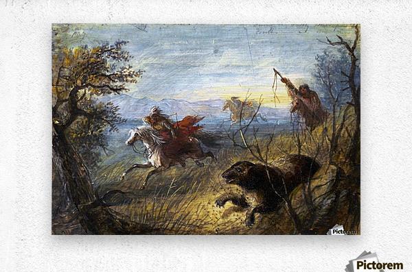 Grizzly Bear Hunt  Metal print