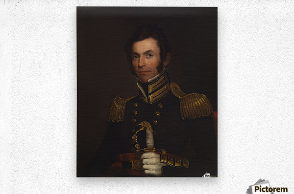 Portrait of Colonel Alexander Smith  Metal print