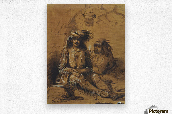 Trappers, Auguste and Louis  Metal print