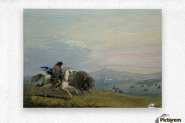 Pawnee Running Buffalo  Impression metal