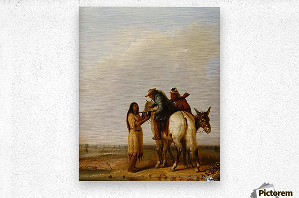 The Thirsty Trapper  Metal print