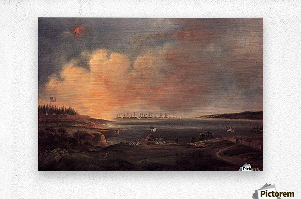 The Battle of Fort McHenry  Metal print