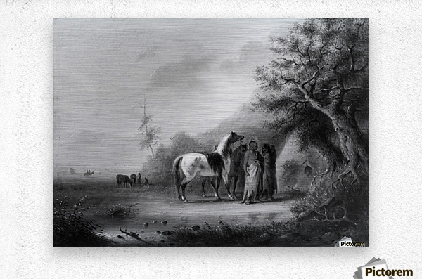 Sioux Indians in the mountains  Metal print