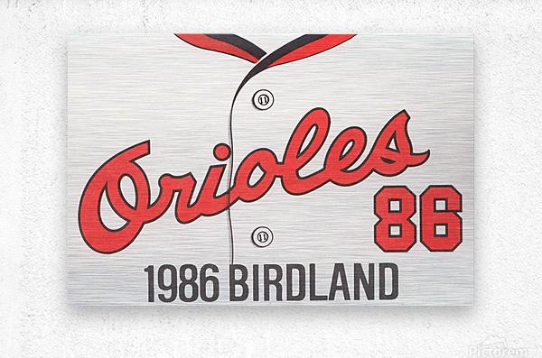 1986 Baltimore Orioles Metal Sign  Metal print