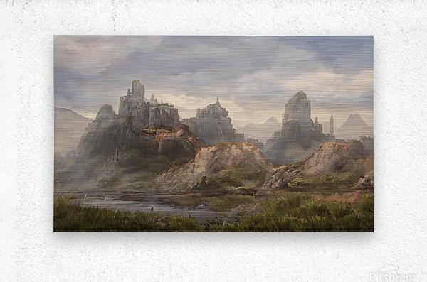 Ancient ruins  Metal print