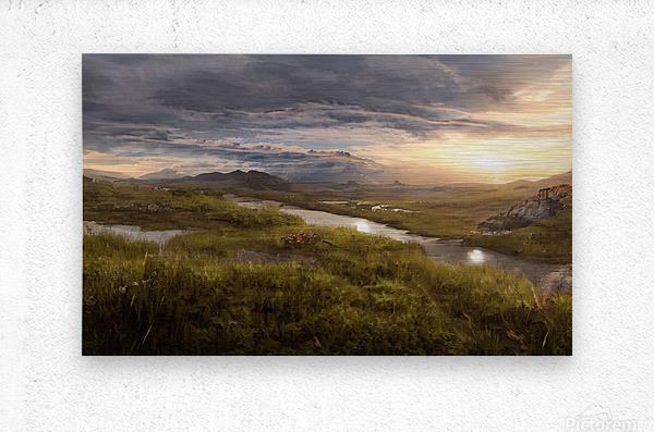 Landscape with river 1  Metal print