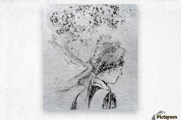 The nurse by Degas  Metal print