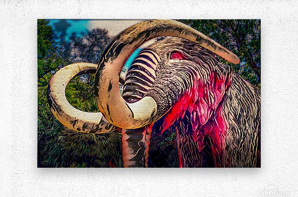 Wooly Mamoth  Metal print