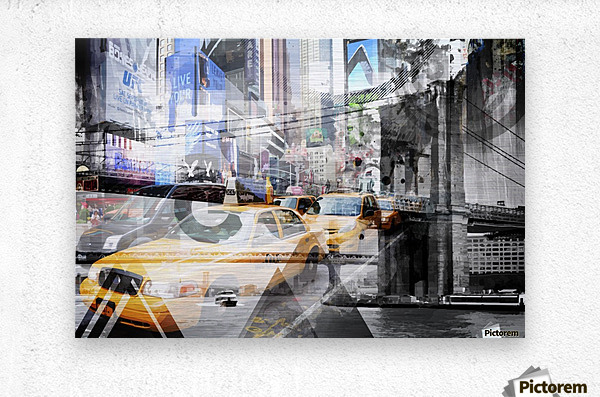 New York City Geometric Mix No. 9  Metal print