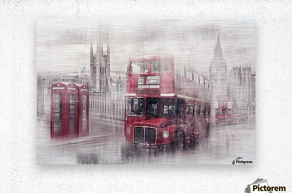 City-Art LONDON Westminster Collage II  Metal print