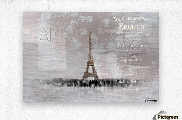 Digital-Art Eiffel Tower II  Metal print