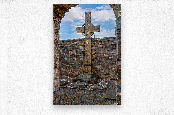 Colmcilles Cross  Metal print