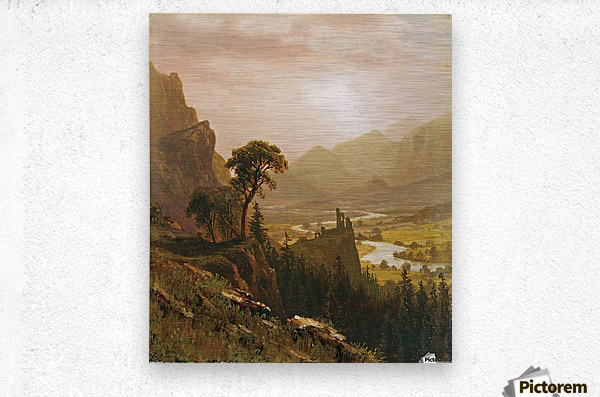 Sunset in the Mountains, 1859  Metal print