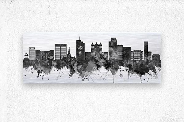San Salvador Skyline  Metal print