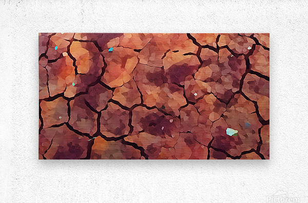 rocks art two  Metal print