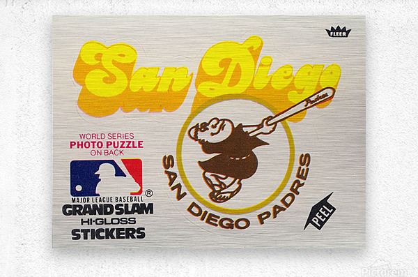 1981 Fleer San Diego Padres Decal Poster  Metal print