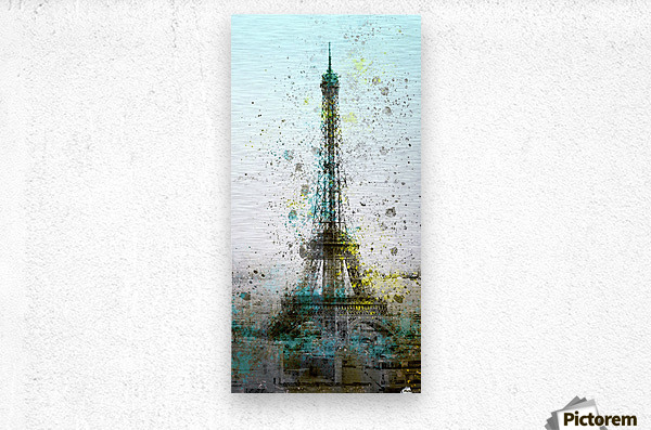 City-Art PARIS Eiffel Tower II  Metal print