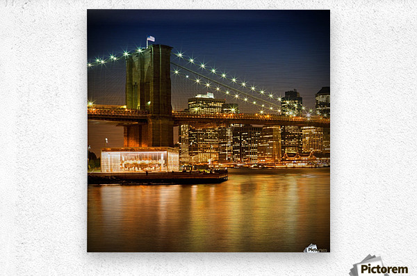 Night-Skylines NEW YORK CITY  Metal print