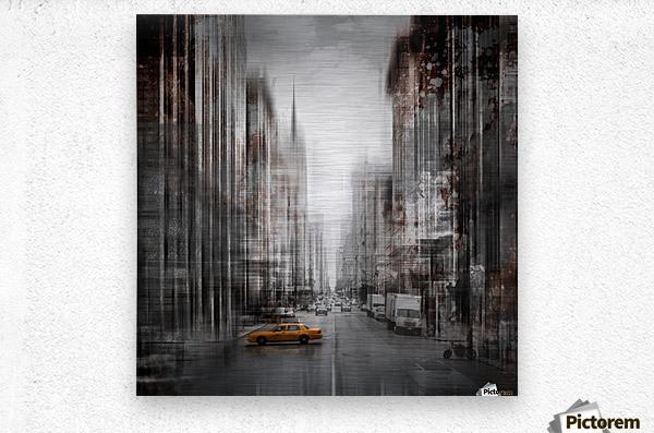 City-Art NYC 5th Avenue  Metal print
