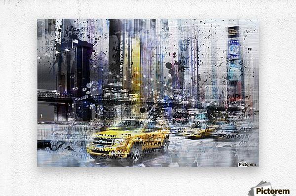 City-Art NYC Collage  Metal print