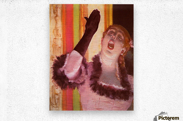 The singer with the glove by Degas  Metal print